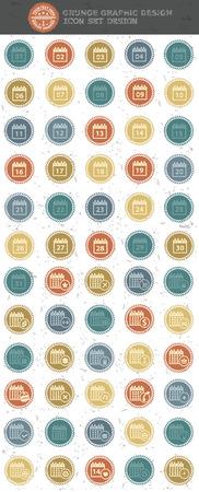 rnabstract: Calendar icon retro style