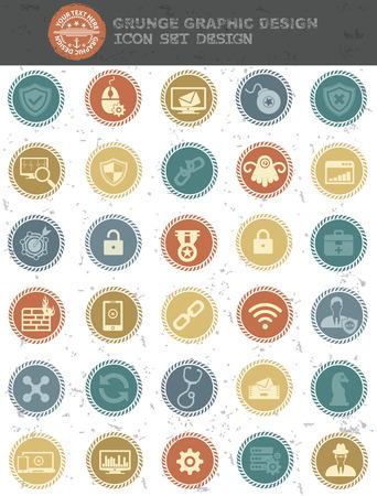 Virus computer icons Vector