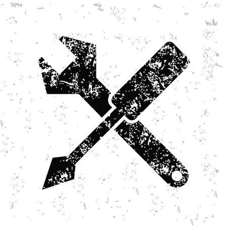 turn screw: Repair design on old paper