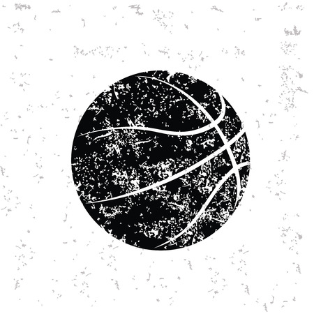 Basketball design on old paper