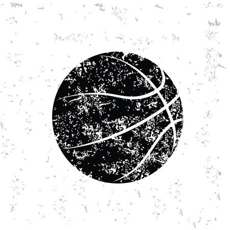 Design Basketball sur le vieux papier