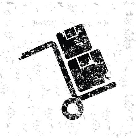 haulage: Logistic design on old paper grunge Illustration
