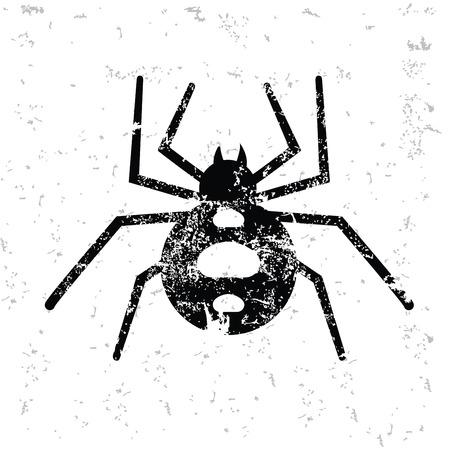 arachnophobia animal bite: Spider design on old paper