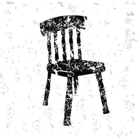 ergonomic: Chair design on old paper Illustration