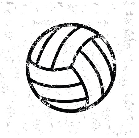 Volleyball design on old paper Vector