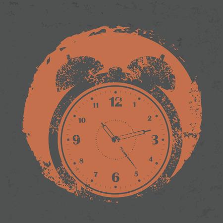 arousing: Clock design on grunge background