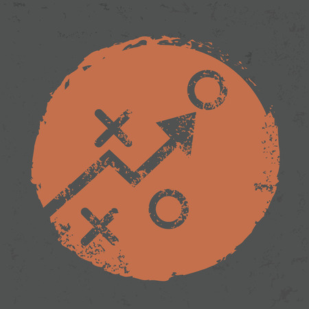 Strategy design on grunge background Illustration