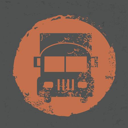 hauler: Truck design on grunge background Illustration