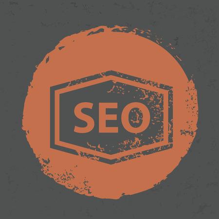 SEO design on grunge background
