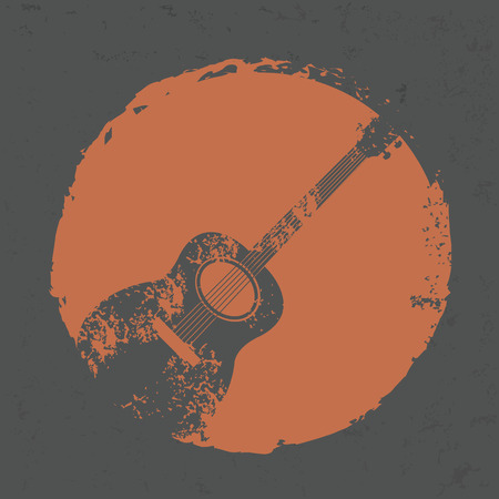 gitara: Konstrukcja gitary na tle grunge