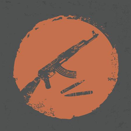 telescopic: Dise�o de armas en el fondo del grunge