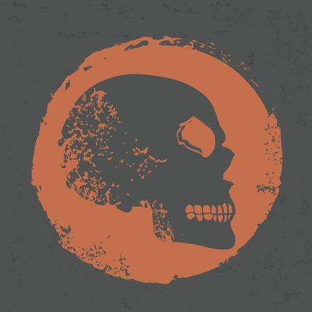 vintagern: Skull design on grunge background