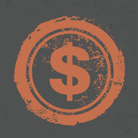 monet: Dollar design on grunge background