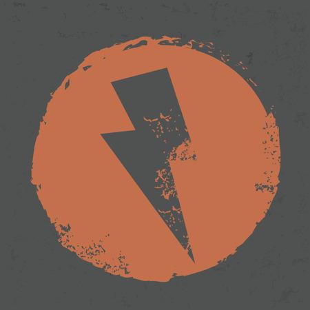 bolt: Thunder design on grunge background Illustration