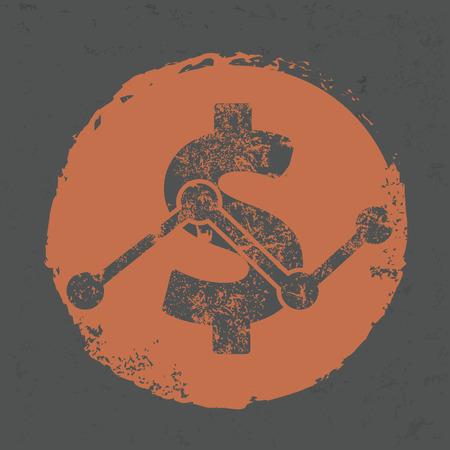 monet: Dollar design on grunge background,grunge vector