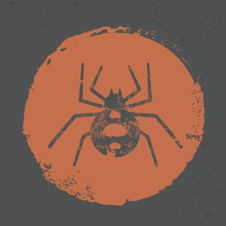 arachnophobia animal bite: Spider design on grunge background,grunge vector