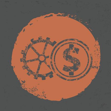 dollar symbol: Dollar symbol on grunge design,grunge vector Illustration
