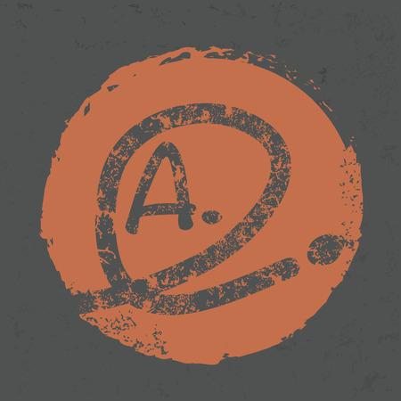amazement: Grade a design on old background,grunge vector
