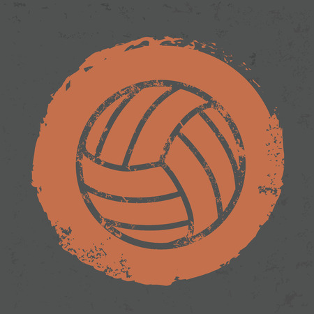 Volleyball design on old background,grunge vector Vector