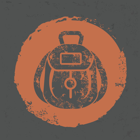 Bag design on grunge background,grunge vector