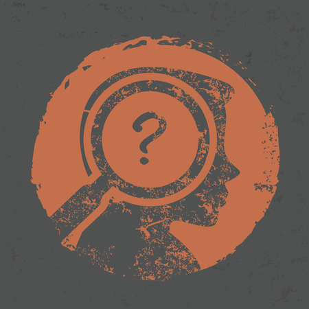 Question design on grunge background,grunge vector Ilustrace