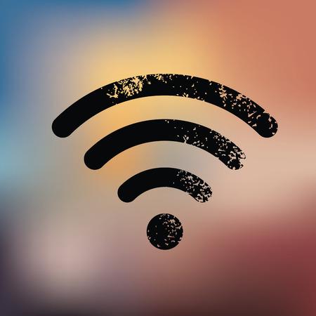 Wireless design on blur background,grunge vector Vector