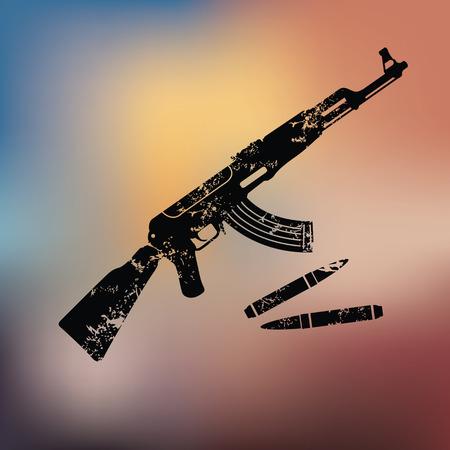 gunsight: Weapon design on blur background