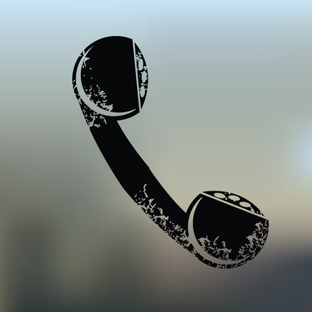telephone booth: Telephone design on blur background