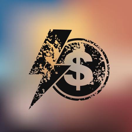 Dollar design on blur background Vector