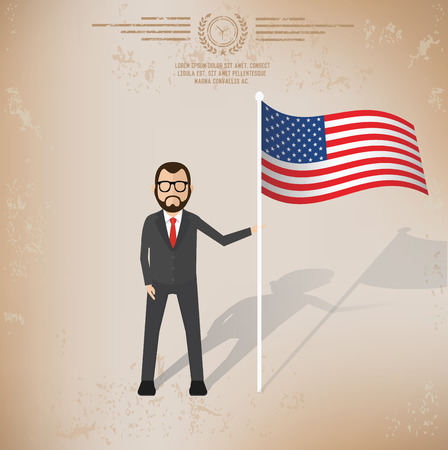 Businessman design on old background, vector Illustration