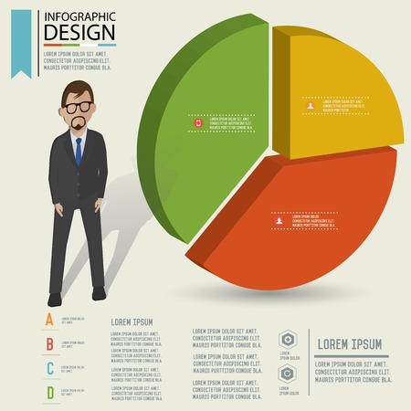 rnabstract: Puzzle info graphic design,Three dimension design,clean vector