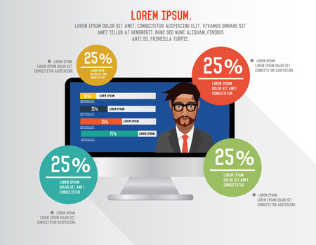vectorrn: Info graphic design on clean background,clean vector Illustration