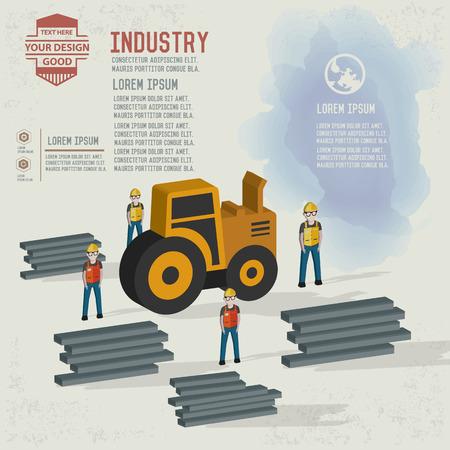 Truck, industrial character design