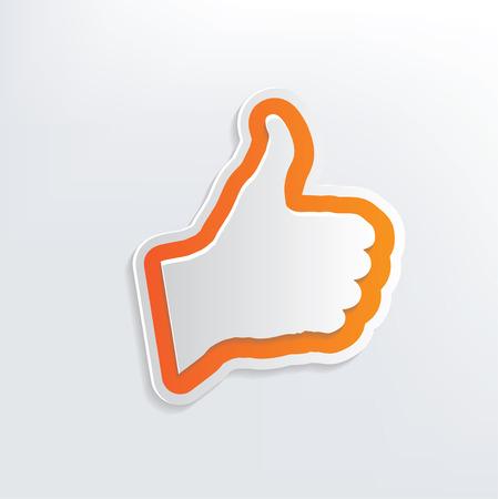 actitud positiva: Un buen dise�o de la mano sobre fondo blanco Vectores