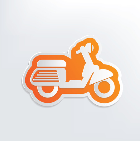wheal: Motorcycle design on white background