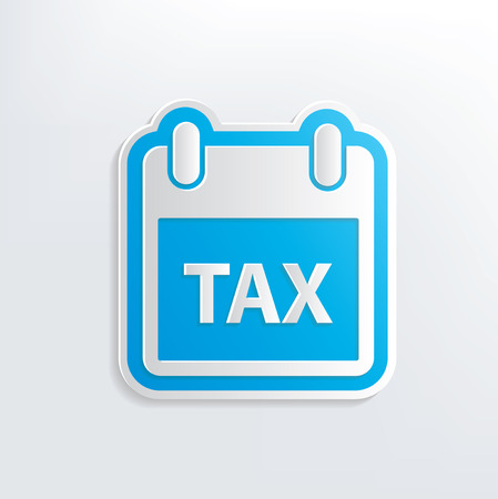 Tax design on white background Vector