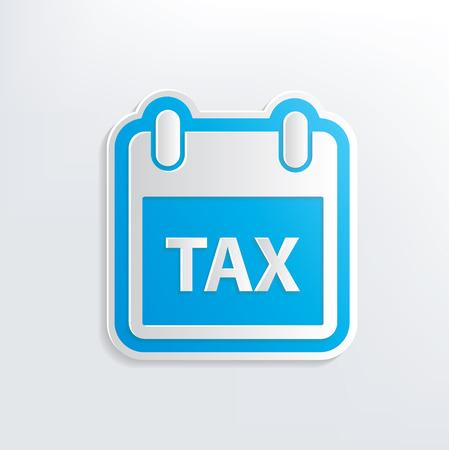 fetter: Tax design on white background