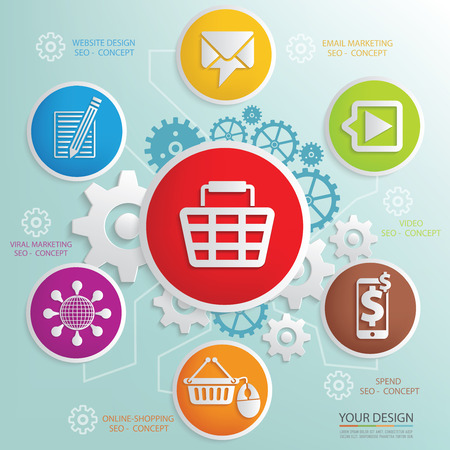 Ecommerce design info graphicclean vector Vector