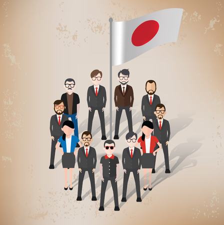 old paper background: Japan character design on old paper background,grunge