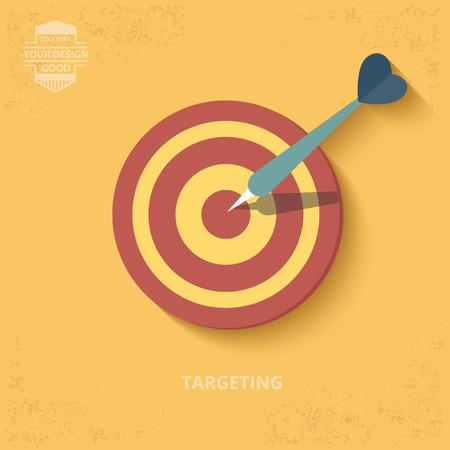 bullseye: Dart design on yellow background