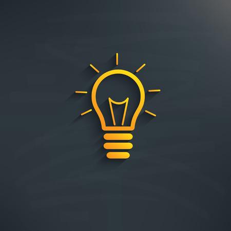 kilowatt: Light bulb design on blackboard background
