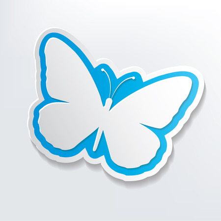 morpho: Butterfly design on white background