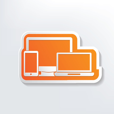 Responsive design on white background Vector