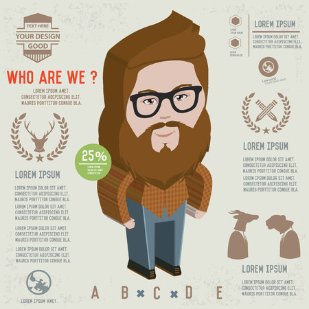 bakelite: Hipster design,clean vector