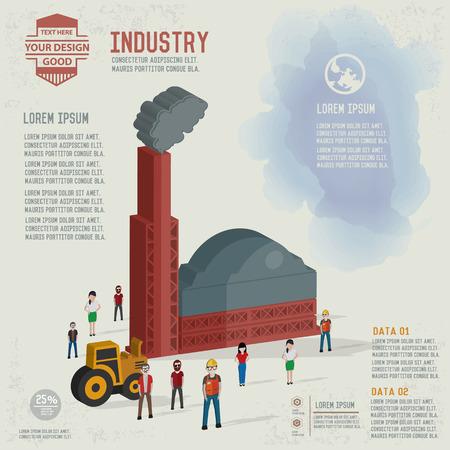 Diseño de Industria y en blanco para el texto, vector limpio