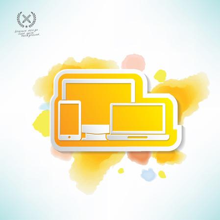 responsive: Responsive design,water colour design,clean vector