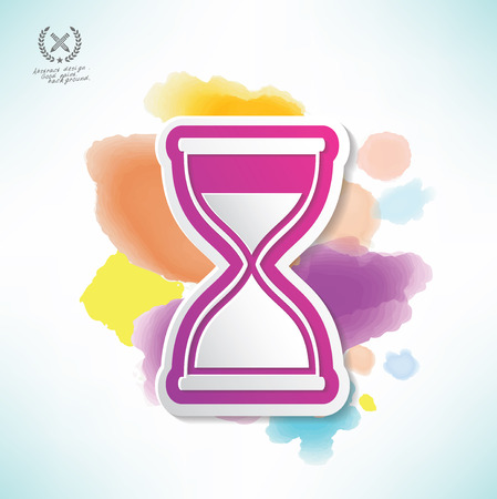 rnabstract: Hourglass design,water colour design,clean vector