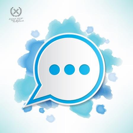 Speech design,water colour design,clean vector Illustration