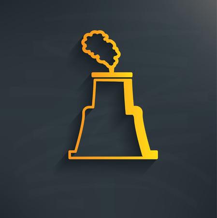 Nuclear on blackboard background,clean vector Vector