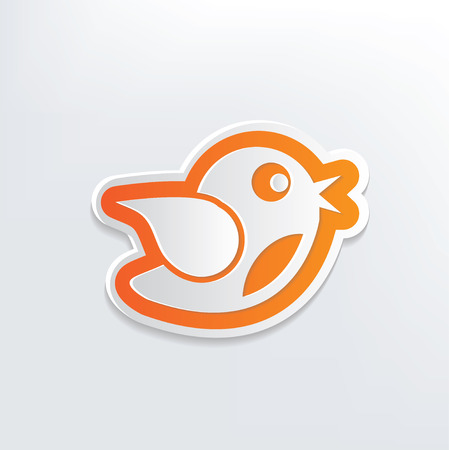 Bird design on white background